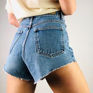 [Vintage] BILL BLASS High Rise Cut Off Denim Short